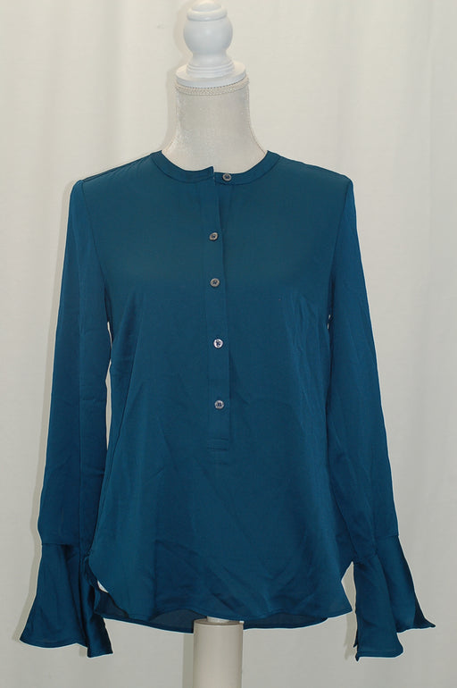 DKNY Bell-Sleeve Blouse Teal Knight 2