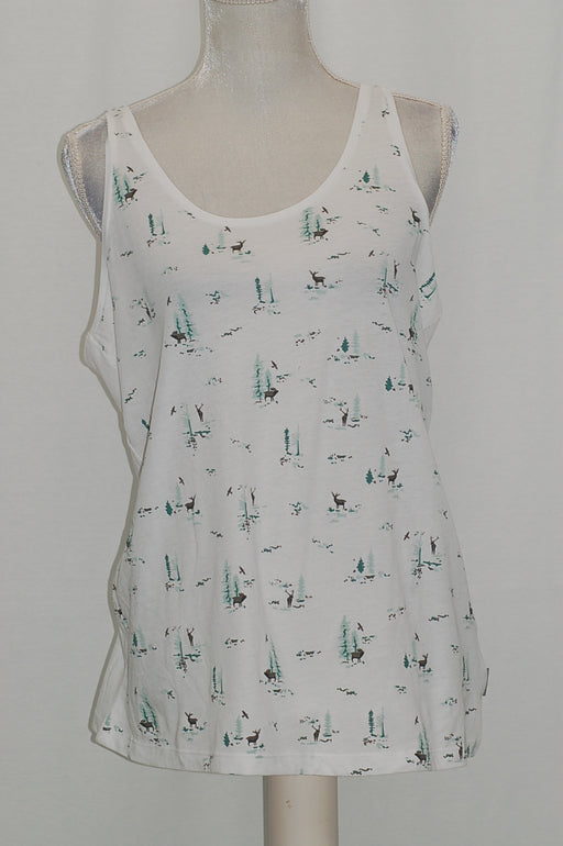 Columbia Down the Path Printed Tank White L