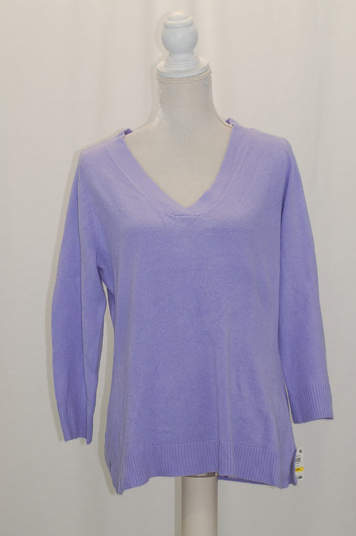 Karen Scott V-Neck Sweater Purple Bliss M