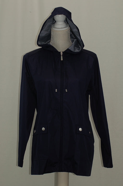 Karen Scott Petite Waterproof Utility Jacket Intrepid Blue PM