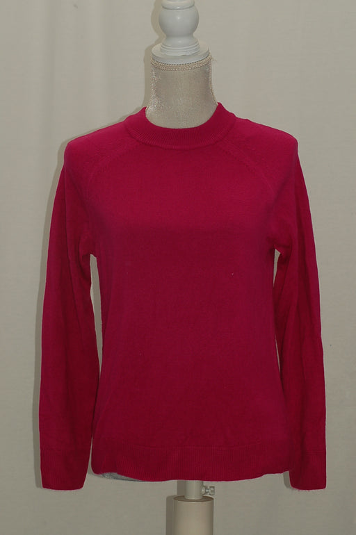 Karen Scott Mock-neck Sweater Raspberry M