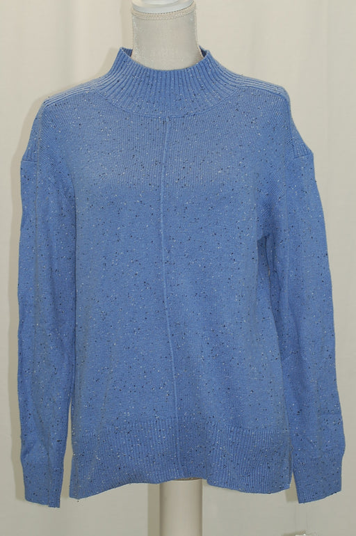 Karen Scott Mock-Neck Sweater Starlit Perri Donegal M