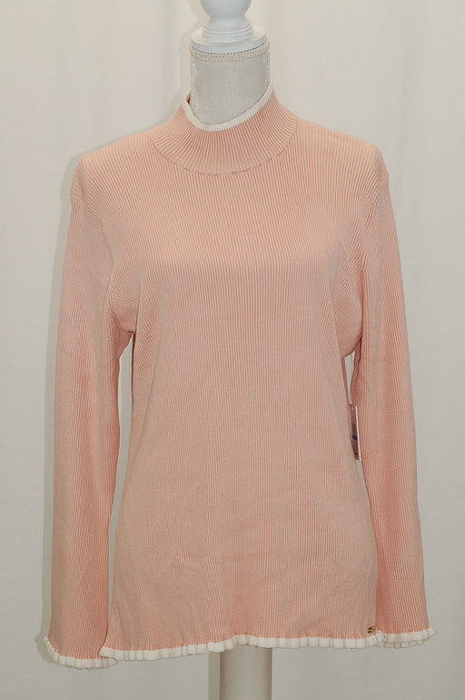 Calvin Klein Piped Mock Neck Sweater Pink XL