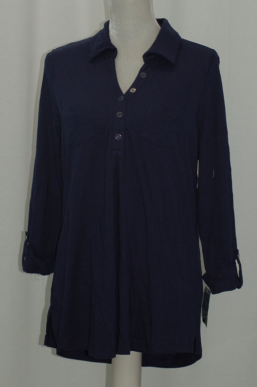 Karen Scott Polo Tunic Intrepid Blue M