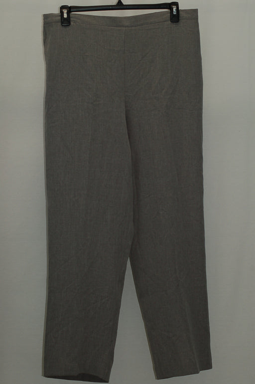 Alfred Dunner Pull-On Straight-Leg Pants Pewter 16