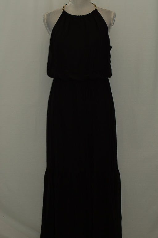 Thalia Sodi Blouson Maxi Dress Deep Black L