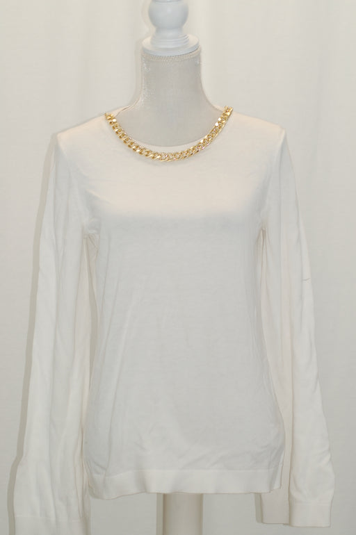 Michael Kors Chain-Embellished Sweater White M