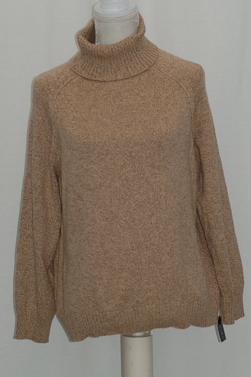 Karen Scott Petite Patterned Turtleneck Sweater Chestnut Marl PL