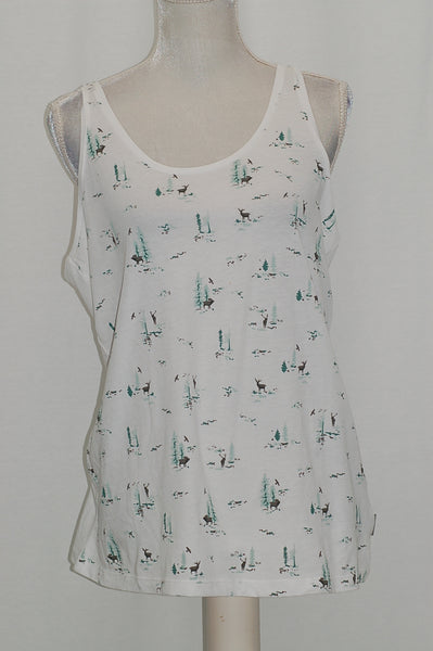 Columbia Down the Path Printed Tank White M
