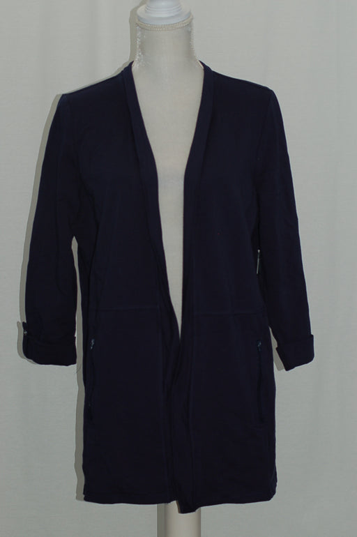 Karen Scott 3/4-Sleeve Open Front Cardigan Intrepid Blue L