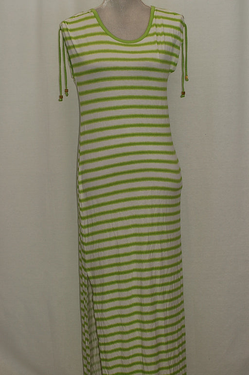 Michael Kors Petite Shoulder-Tie Maxi Dress Fresh Lime PS