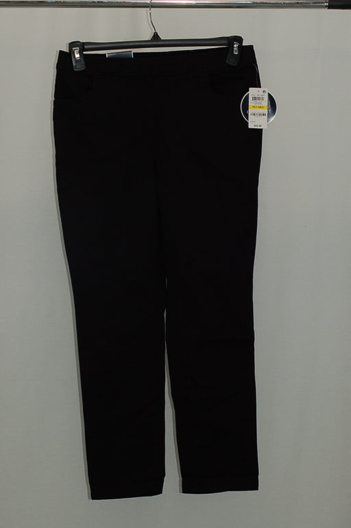 Karen Scott Petite Pull-On Pants Deep Black PS-S