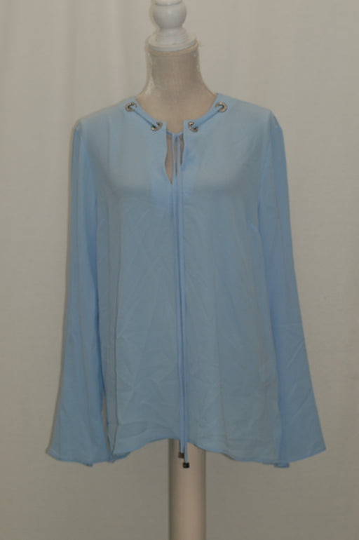 Michael Kors Embellished Grommet Tie-Neck T Cloud XL