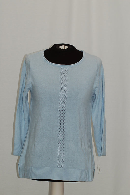 Karen Scott Rolled-Neck Sweater Blue Moon S