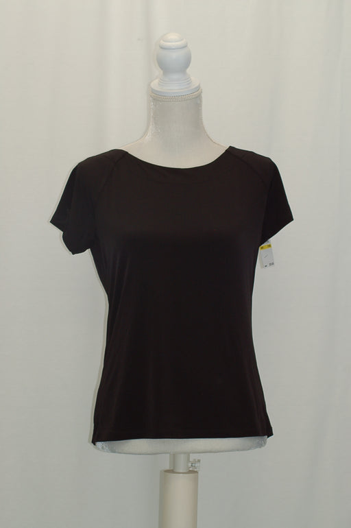 Michael Kors Petite Matte Jersey Top Black PM
