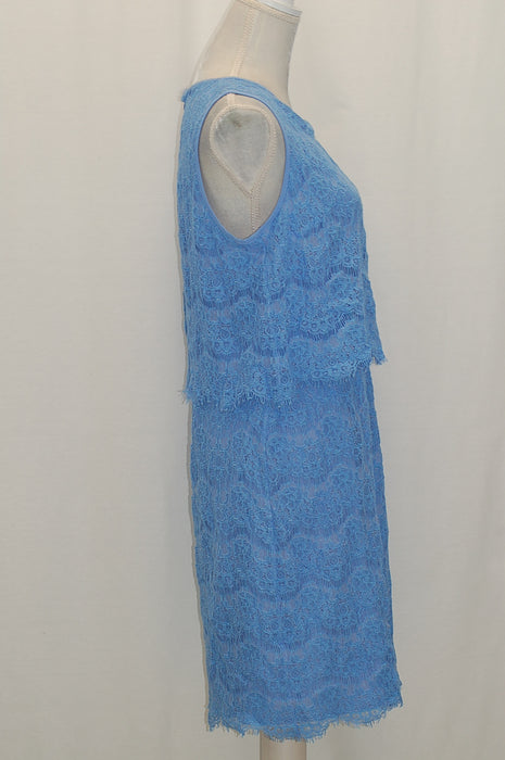 Anne Klein Lace Popover Sheath Dress Light Bluebell 12