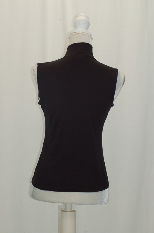 Karen Scott Petite Sleeveless Mock-Neck To Deep Black PS