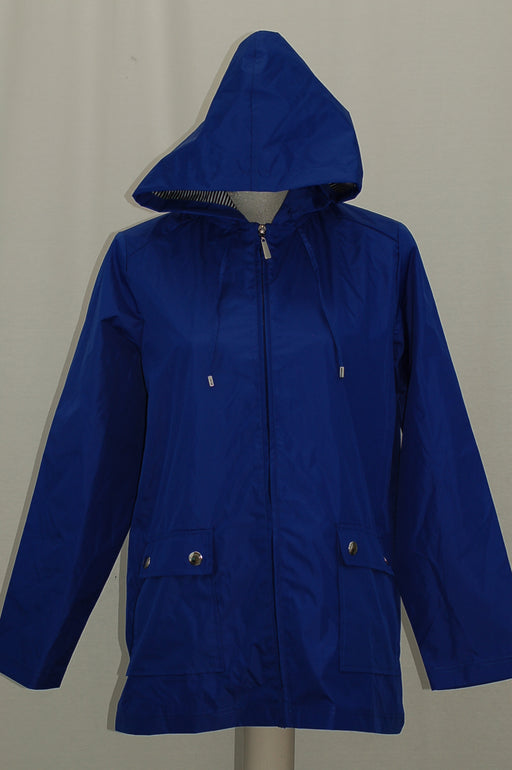 Karen Scott Petite Waterproof Utility Jacket Ultra Blue PM