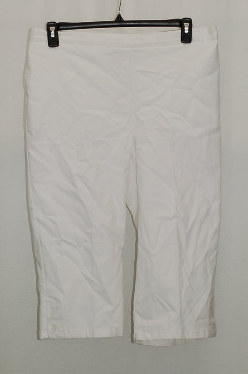 Alfred Dunner Pull-On Capri Pants White 16