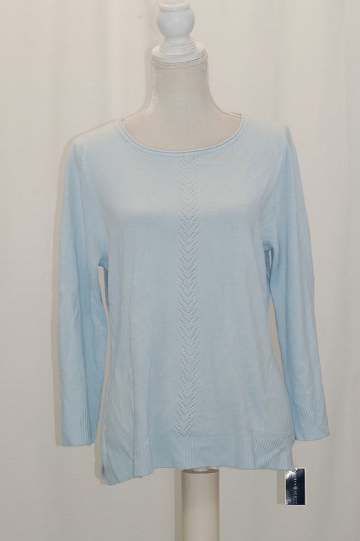 Karen Scott Rolled-Neck Sweater Blue Moon L