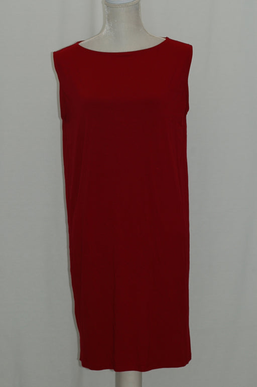 Eileen Fisher Boat-Neck Shift Dress China Red PM