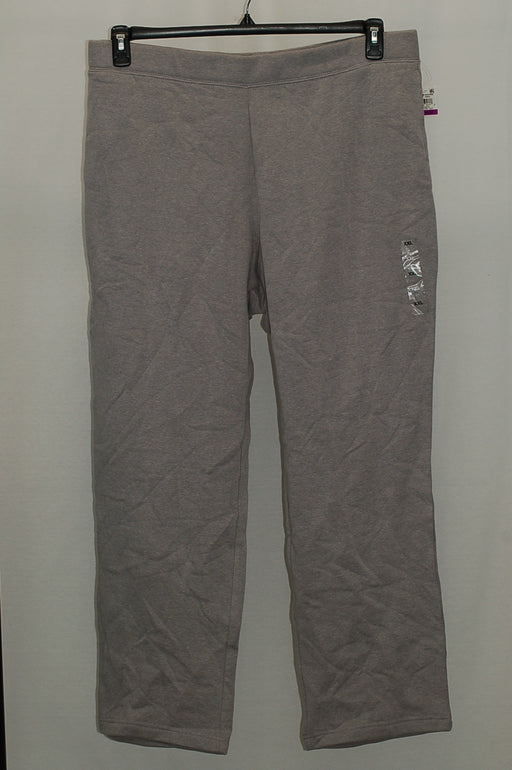 Karen Scott Active Straight-Leg Sweatpants Smoke Grey XXL