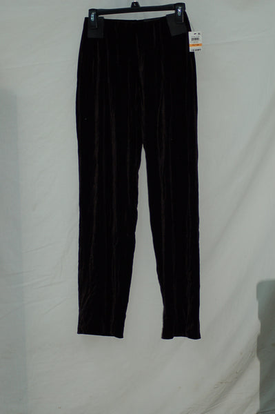 Alfani Petite Velvet Wide-Leg Pants Deep Black PM