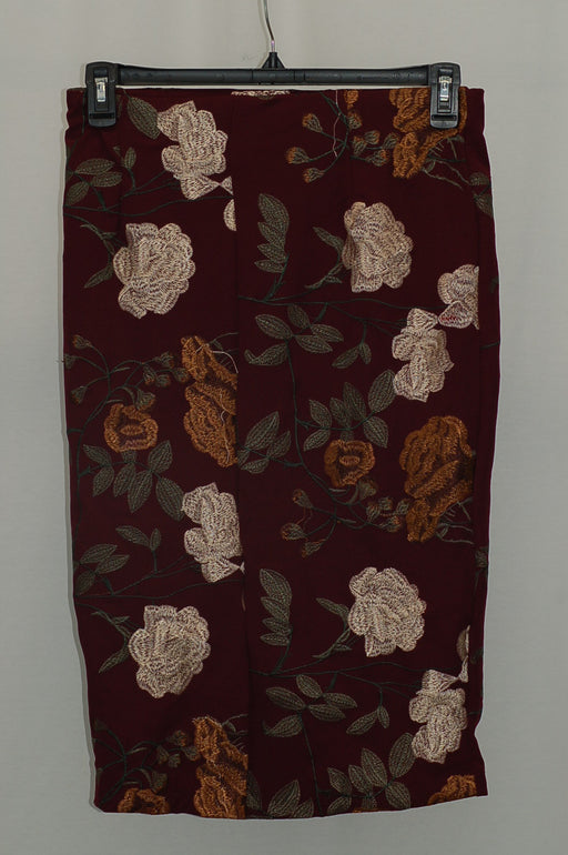 ECI Embroidered Pencil Skirt Pomegranate Ground Embroidered 8