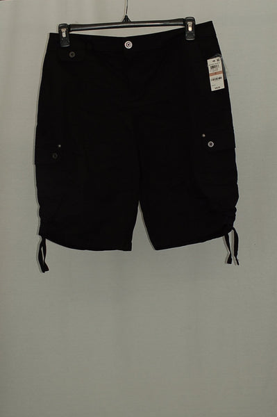 Style Co Ruched Bermuda Shorts Deep Black 6