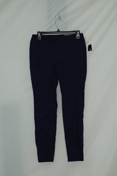 ALFANI Bistro High Waist Skinny Pants Dark Blue 6 P