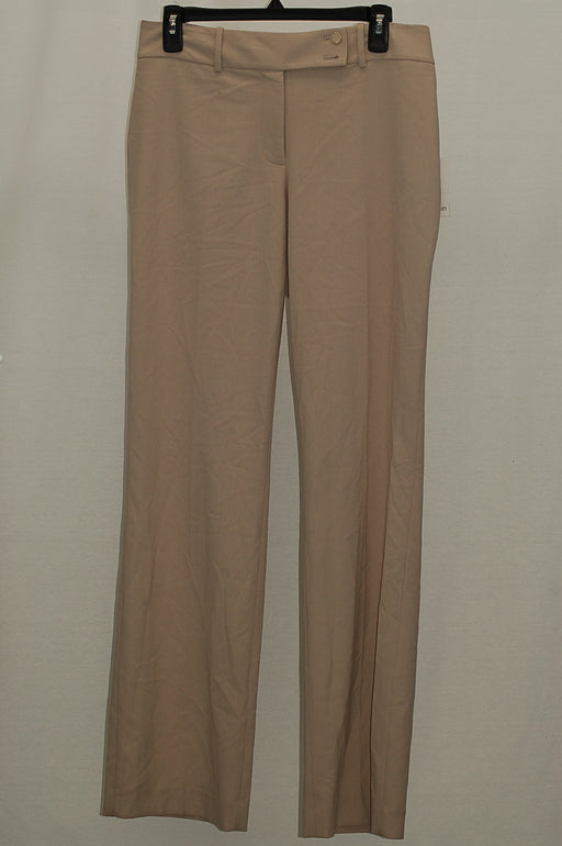 Calvin Klein Double-Button Slim Trousers Khaki 4