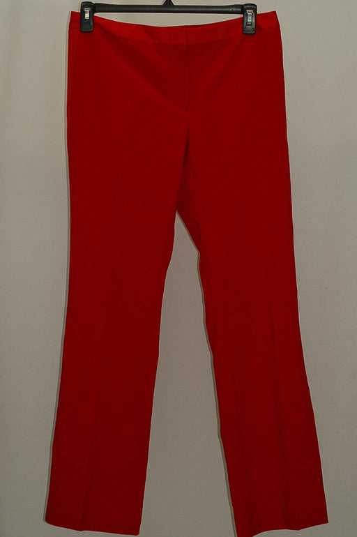 Calvin Klein Satin-Stripe Pants, Regular Red 10