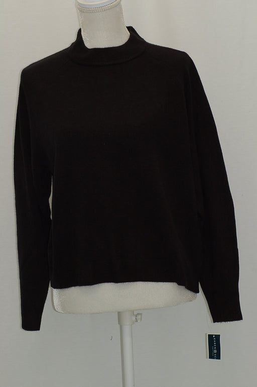 Karen Scott Petite Mock-Neck Sweater Luxsoft Black PL