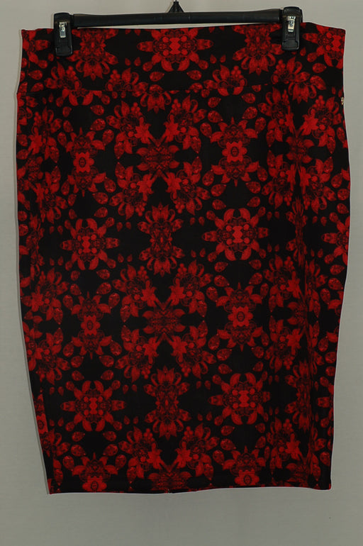 Thalia Sodi Animal-Print Scuba Pencil Skir Kaleidoscope Red XXL