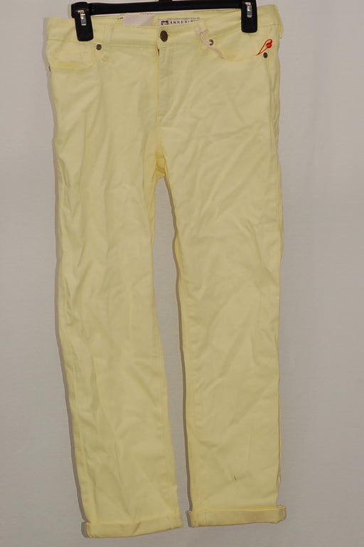 Anne Klein Cropped Trousers Gold 2