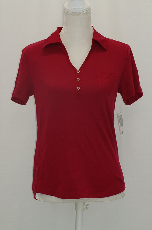 Karen Scott Cotton Polo Top Daring Dynasty M