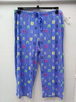 Charter Club Knit Cropped Cotton Pajama Pan Flip Flops M