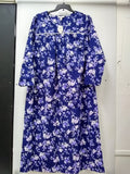 Charter Club Plus Size Printed Flannel Cott Rose Garden Floral 2X