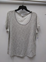 Charter Club Printed Cotton Knit Pajama T-S Floral Dove Grey XL