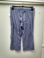 Alfani Knit Cropped Pajama Pants Worn Denim S