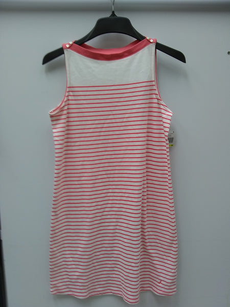 Nautica Striped Knit Sleepshirt Peach Stripe M