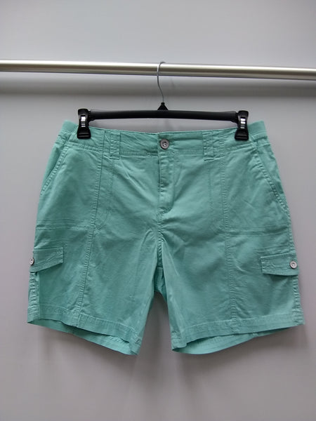Style Co Comfort-Waist Cargo Shorts Aqua Brook 4