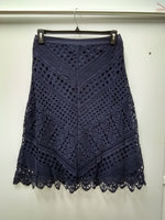 JPR Crocheted A-Line Skirt Navy S