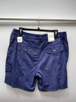 Style Co Comfort-Waist Cargo Shorts Medium Chambray 12