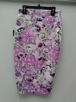 Thalia Sodi Printed Scuba Pencil Skirt Pink Ice Combo XS