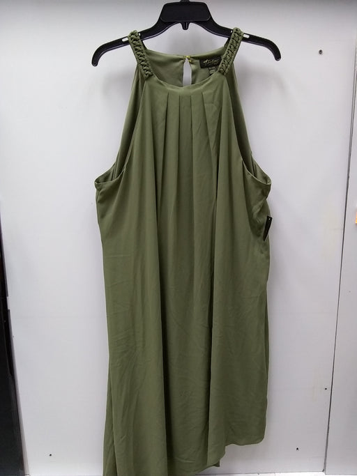 Thalia Sodi Asymmetrical Shift Dress Olive XXL