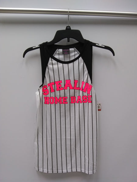 Material Girl Juniors Graphic Muscle T-Shir Stealing Home XS