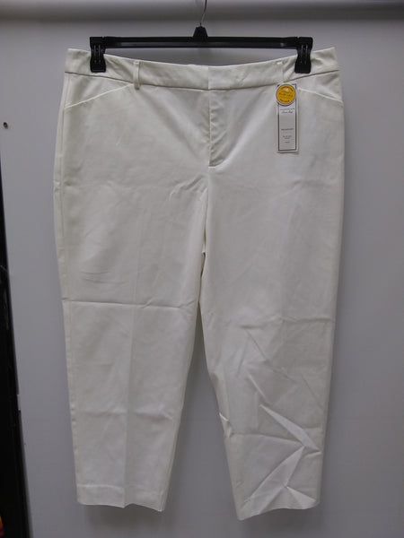 Charter Club Cropped Straight-Leg Pants Bright White 18