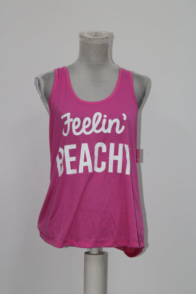Jenni Keyhole-Back Pajama Tank Top Flash Mode Beachy L
