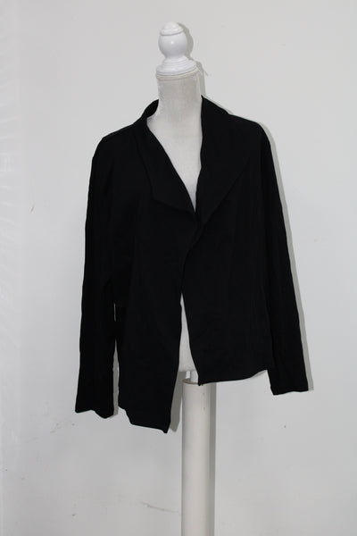 Style Co Open-Front Long-Sleeve Blazer Deep Black L